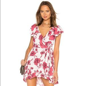 Free people French quarter floral mini wrap dress